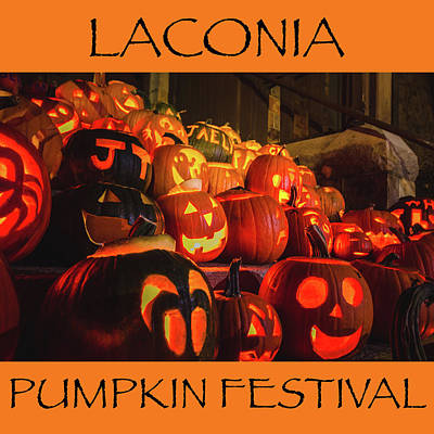 Photograph - Laconia Pumpkin Festival Graphic Design 2 by Robert Clifford