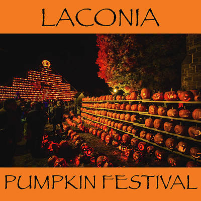 Photograph - Laconia Pumpkin Festival Graphic Design 3 by Robert Clifford