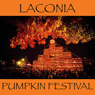 Photograph - Laconia Pumpkin Festival Graphic Design 4 by Robert Clifford