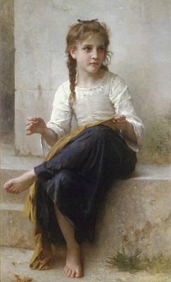 Designer Clothes Painting - La_couturiere by Adolphe William Bouguereau
