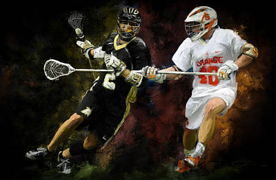 Scott Melby Painting - Lacrosse Close D #2 by Scott Melby