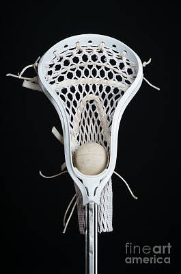 Lacrosse Head With Ball Art Print by Ben Haslam