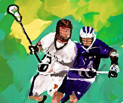 Scott Melby Painting - Lacrosse I by Scott Melby