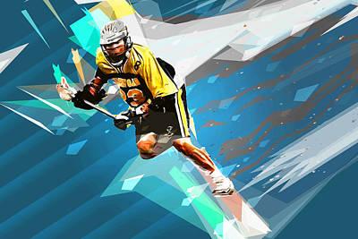 Lacrosse Painting - Lacrosse In A Tornado by Elaine Plesser