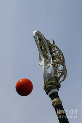 Photograph - Lacrosse Stick And Ball by Kristy Jeppson
