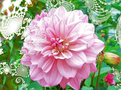 Digital Art - Lacy Dahlia by Nancy Pauling