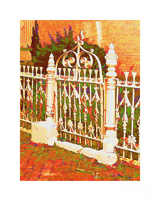 Lacy Garden Gate Art Print