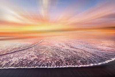 Photograph - Lacy Waves At Dawn Dreamscape by Debra and Dave Vanderlaan