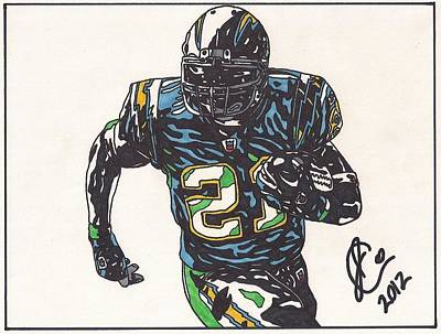 Ladainian Tomlinson Drawing - Ladainian Tomlinson 1 by Jeremiah Colley