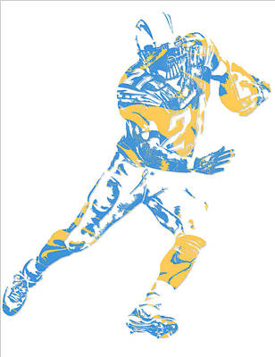 Ladainian Tomlinson Mixed Media - Ladainian Tomlinson San Diego Los Angeles Chargers Pixel Art 1 by Joe Hamilton