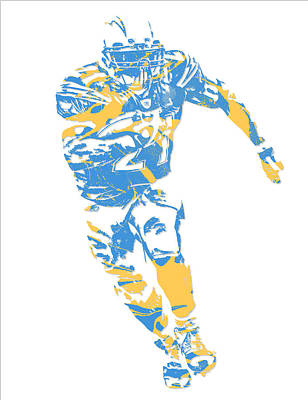 Ladainian Tomlinson Mixed Media - Ladainian Tomlinson San Diego Los Angeles Chargers Pixel Art 2 by Joe Hamilton