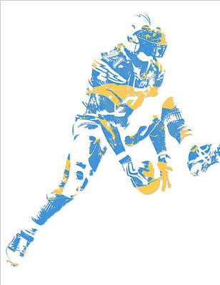 Ladainian Tomlinson Mixed Media - Ladainian Tomlinson San Diego Los Angeles Chargers Pixel Art 3 by Joe Hamilton