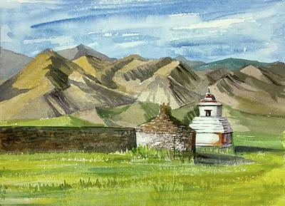 Painting - Ladakh by Asha Sudhaker Shenoy