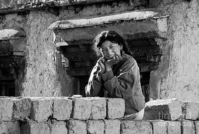 Photograph - Ladakhi Girl - Alchi Ladakh by Craig Lovell