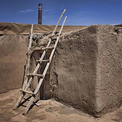 Photograph - Ladder - Adobe - Taos Pueblo by Nikolyn McDonald