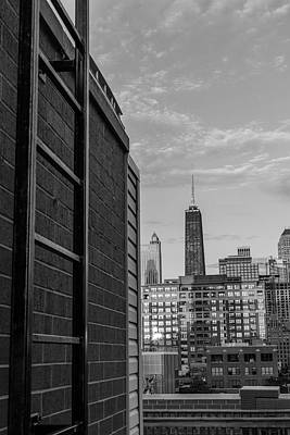 Photograph - Ladder And Hancock Tower by John McGraw