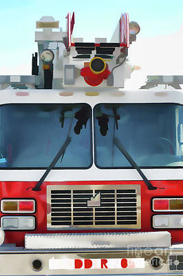 Photograph - Ladder Fire Truck by Wilma Birdwell