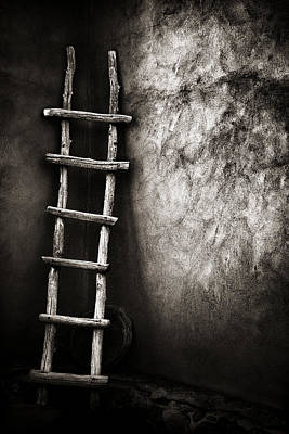 Photograph - Ladder In Truchas New Mexico by Carol Leigh