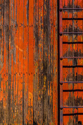 Boxcar Photograph - Ladder On Boxcar by Garry Gay