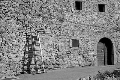 Ladder On The Wall Art Print