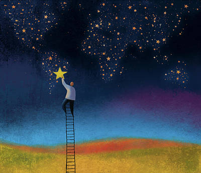 Mixed Media - Ladder To The Stars by Roberto Weigand