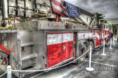 Fdny Photograph - Ladder Truck 152 - 9-11 Memorial by Eddie Yerkish