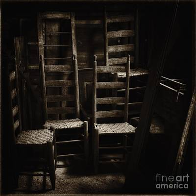 Ladderback Chairs Art Print