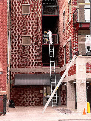 Clark Street Photograph - Ladders by David Bearden