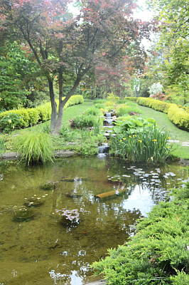 Photograph - Ladew Gardens-pond by Judith Morris