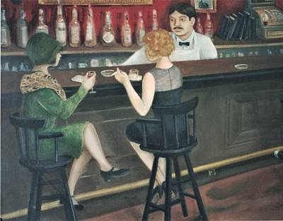 Painting - Ladies Drinking In A Bar by Suzn Art Memorial