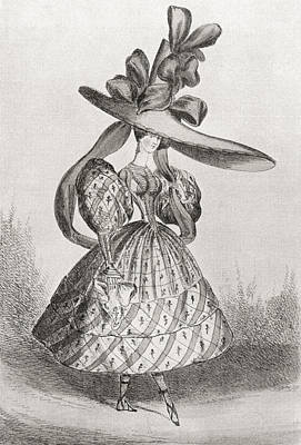 Ladies Fashion In 1828, Wasp Waist Art Print