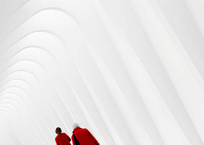 Lady In Red Photograph - Ladies In Red by Todd Klassy