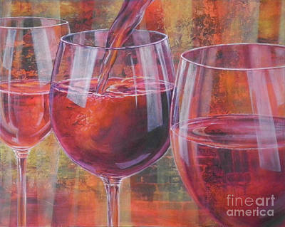Pouring Wine Digital Art - Ladies Night Out by Carol McIntyre