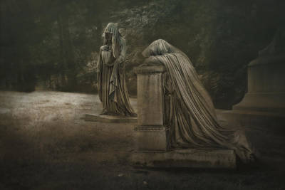 Graveyard Photograph - Ladies Of Eternal Sorrow by Tom Mc Nemar