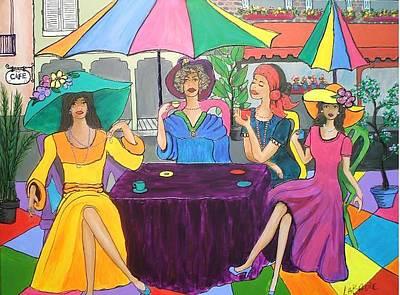 Painting - Ladies Of New Orleans by LaBadie