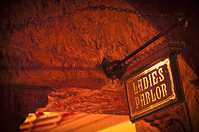 Photograph - Ladies Parlor Sign by Carolyn Marshall