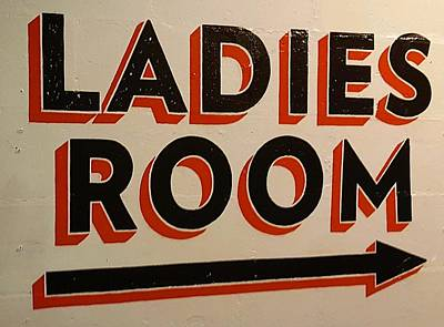 Photograph - Ladies Room Color by Rob Hans