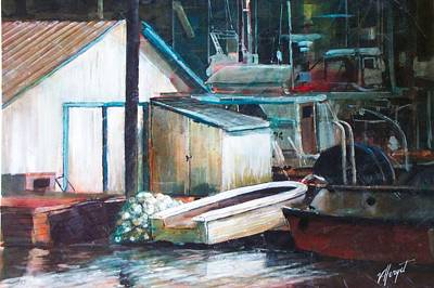 Ladner Harbour Art Print by Victoria Heryet