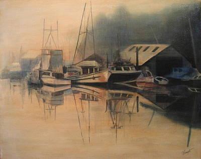 Ladner Mist Art Print by Victoria Heryet