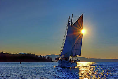 Photograph - Ladona On Penobscot Bay by Rick Berk