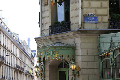 Photograph - Laduree 1 by Andrew Fare