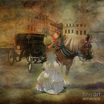Photograph - Lady And A Cab 1 by Barbara Dudzinska