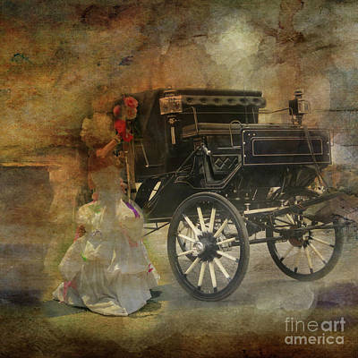 Photograph - Lady And A Cab by Barbara Dudzinska