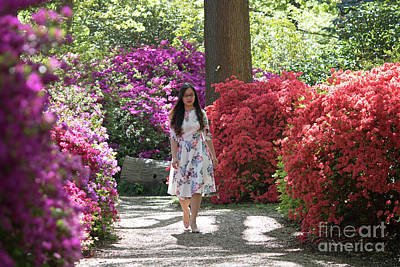 Photograph - Lady At Isabella Plantation Richmond Park by Julia Gavin