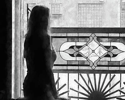 Photograph - Lady At The Window by John Freidenberg