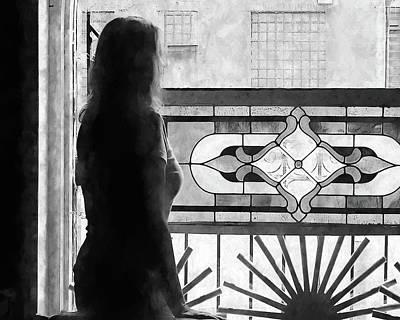 Photograph - Lady At The Window by John Freidenberg