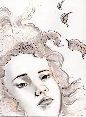 Depression Mixed Media - Lady Autumn by Gabrielle Sarmiento