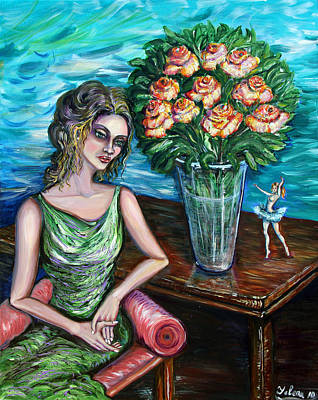 Lady Ballerina Art Print