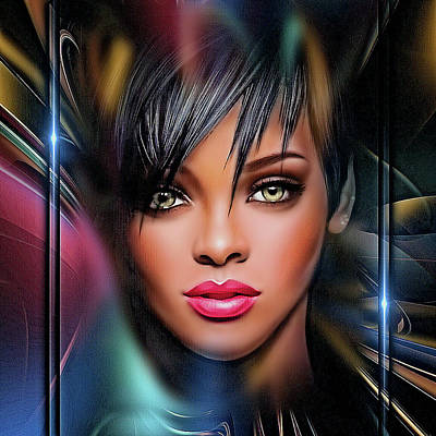 Digital Art - Lady Beautiful by Karen Showell