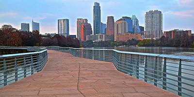 Photograph - Lady Bird Lake Walkway by Frozen in Time Fine Art Photography